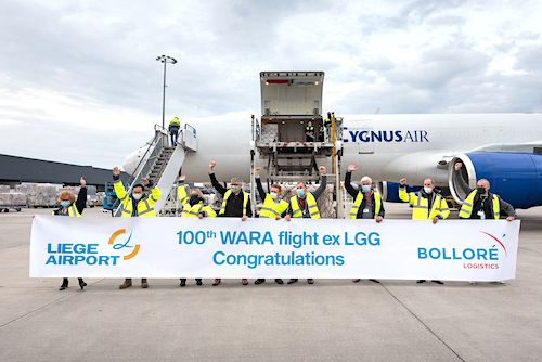 Bolloré Logistics charters its 100th flight between Europe and Africa via its WARA dedicated services offer