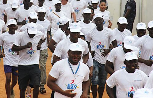 14,125 employees together covered 175,655 kilometres to the benefit of several charity organisations