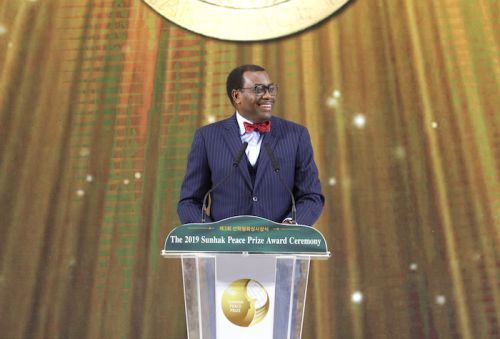 """We are in a race with time to unlock Africa's full potential"" – Akinwumi Adesina, 2019 Sunhak Peace Prize Laureate"